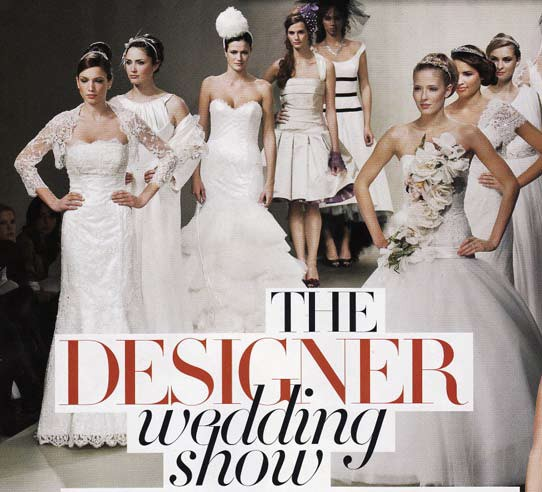 Brides Magazine Jan/Feb 2010 - Designer Wedding Show - Finale Gown