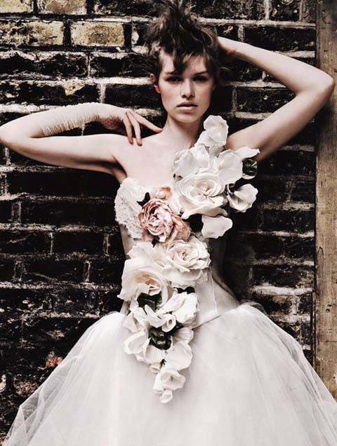 Brides Magazine Sep/Oct 2009 - Flower Corset & Tulle Skirt