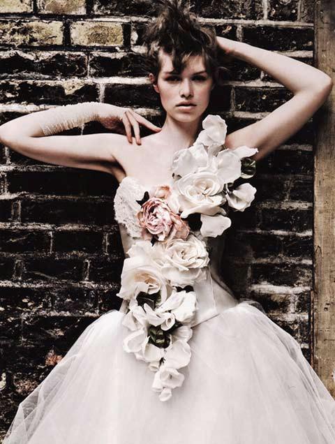 Brides Magazine Sep/Oct 2009 - Flower Corset & Tulle Skirt