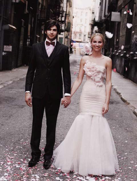 Brides Magazine Sep/Oct 2009 - Diamond Organza 2 Piece Gown