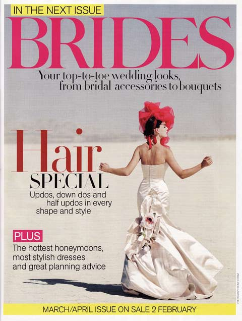 Brides Magazine Jan/Feb 2009 - Vivienne Gown