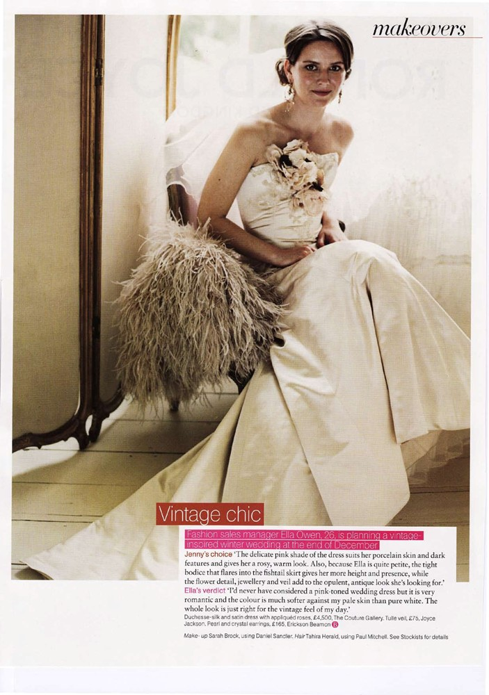 Brides Magazine Sep/Oct 2008 - Vivienne Dress