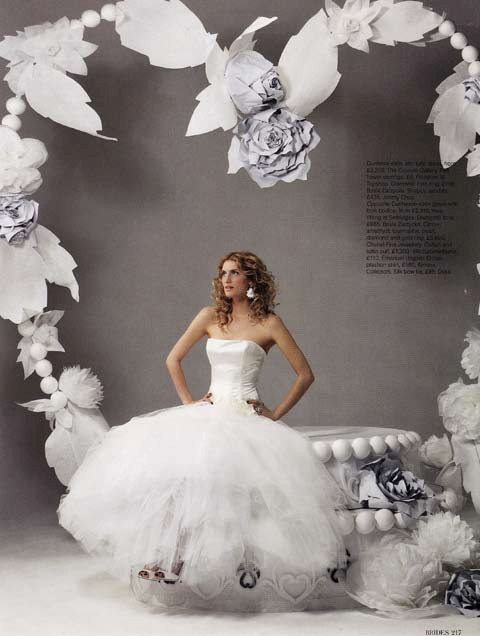 Brides Magazine May/June 2008 - Loewe Dress Ivory
