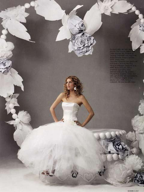 Brides Magazine May/June 2008 - Loewe Dress Ivory
