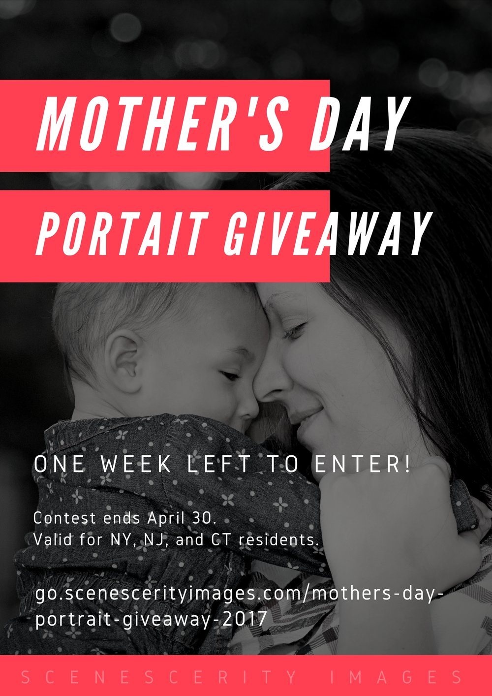 Mother's day portrait giveaway 2017 NY NJ CT