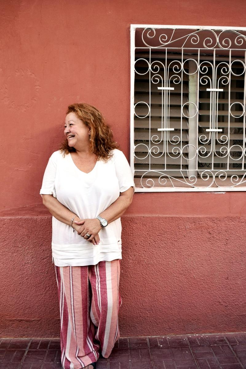 Mother portrait Honduras Pink Happy