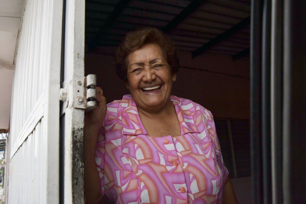 Senior Elderly Woman Candid Portrait