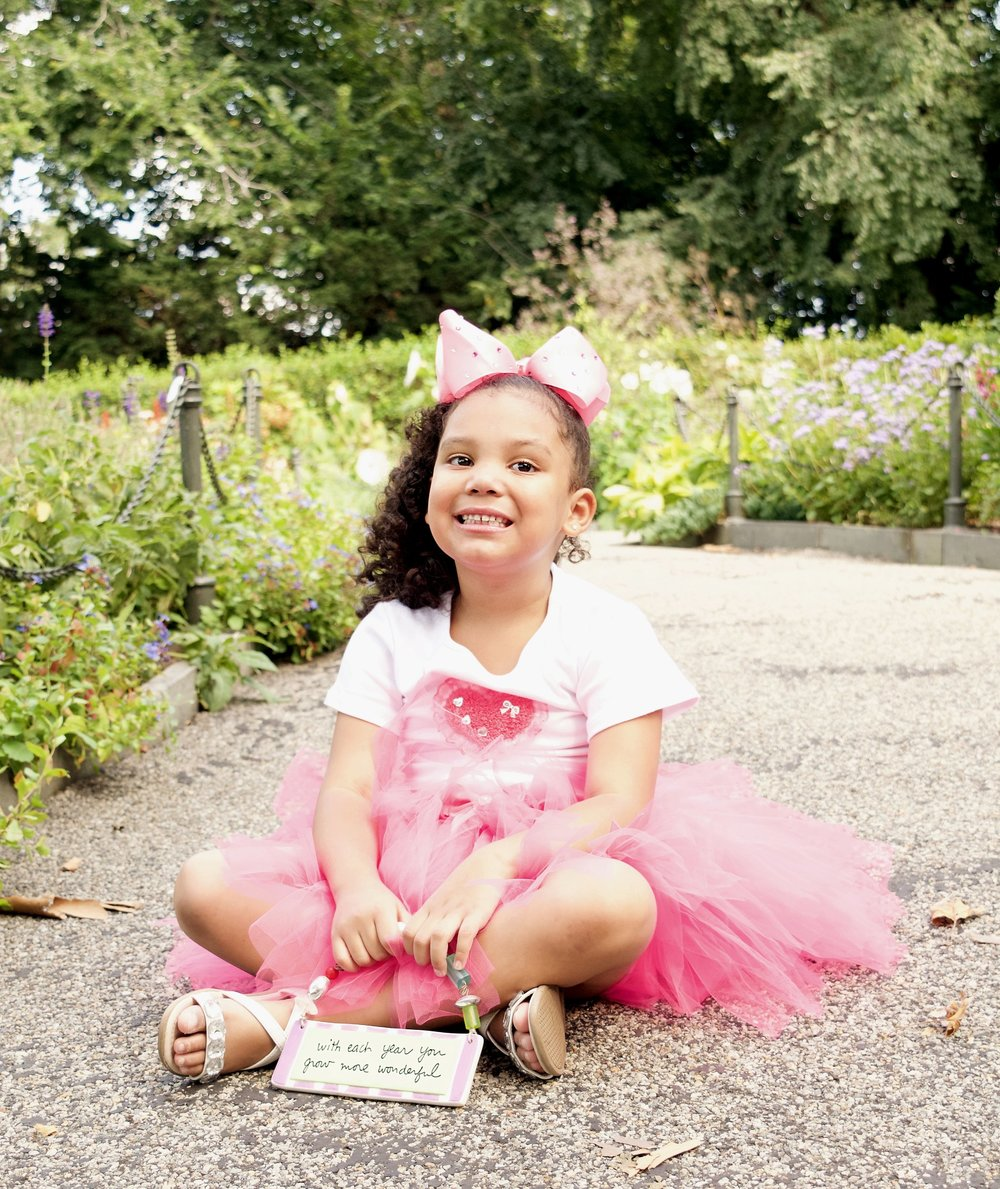 Child portrait birthday girl photoshoot family photography NYC CT