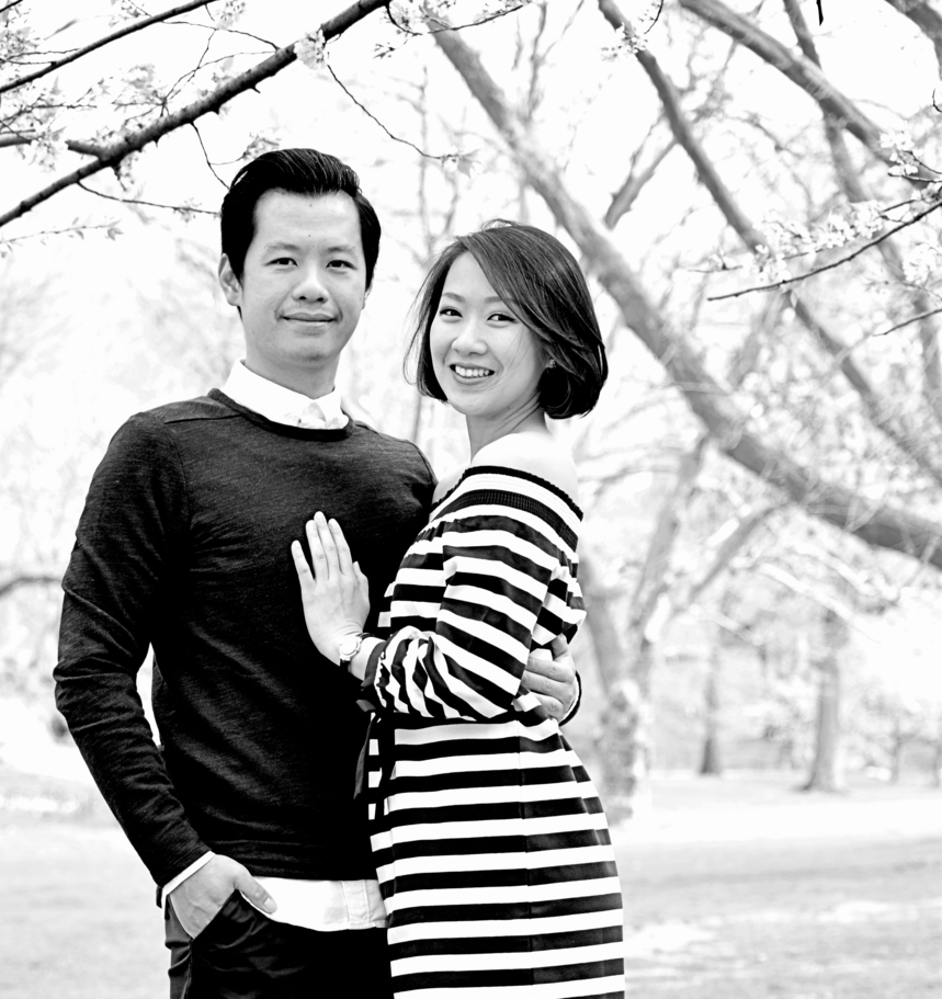 Cherry Blossom Central Park Engagement Photography