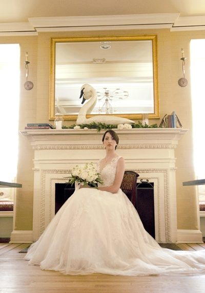Styled Bridal Portrait New York Connecticut Wedding Photography The Library Wine Bar Wallingford Flower Shoppe Bliss Bridal