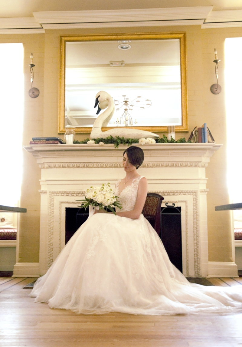 Styled Bridal Portraits, The Library, Wallingford, Connecticut