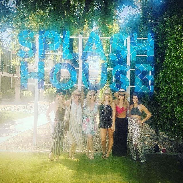 A little blurry but sums up the day ☀️🔥💦🍹 #splashhouse #sohot #congratskelly #palmsprings