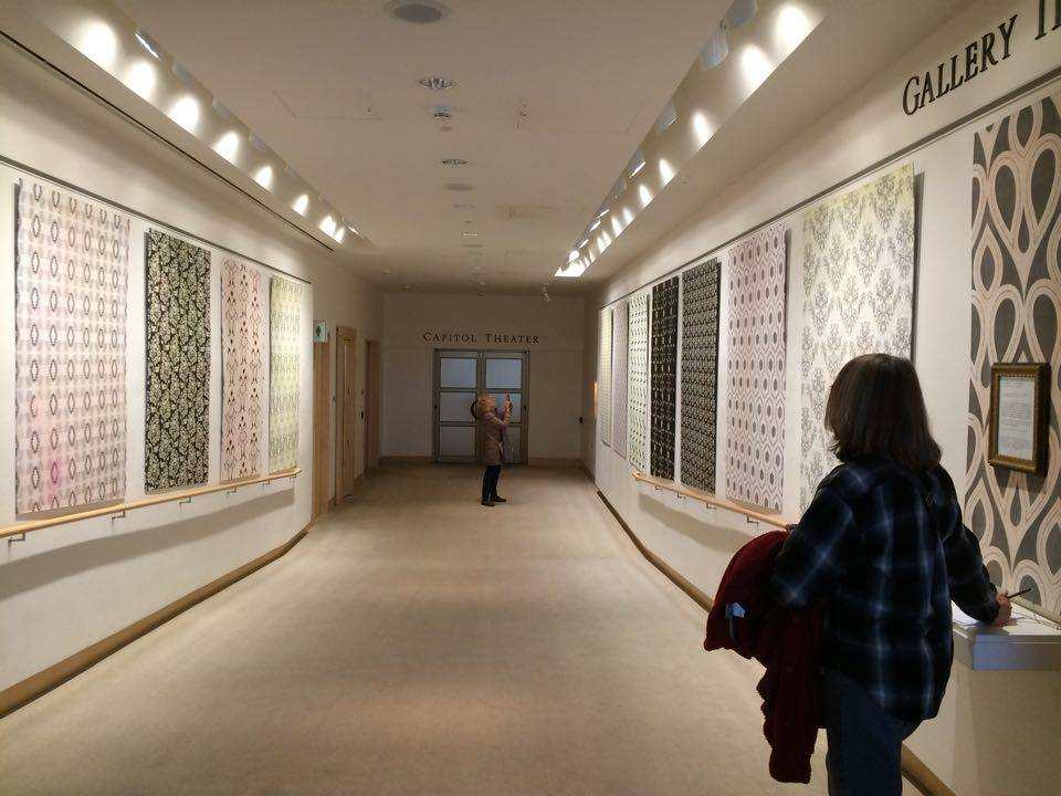 twelve sections of wallpaper from  The Patterns' Vicious Influence  on view in a solo exhibition at the Overture Center for the Arts in Madison, WI (Winter 2016)