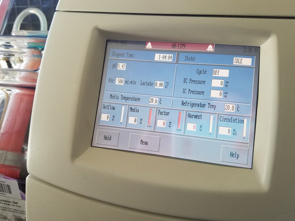 AutovaxID's automated touchscreen display makes controlling and monitoring key run parameters easy.