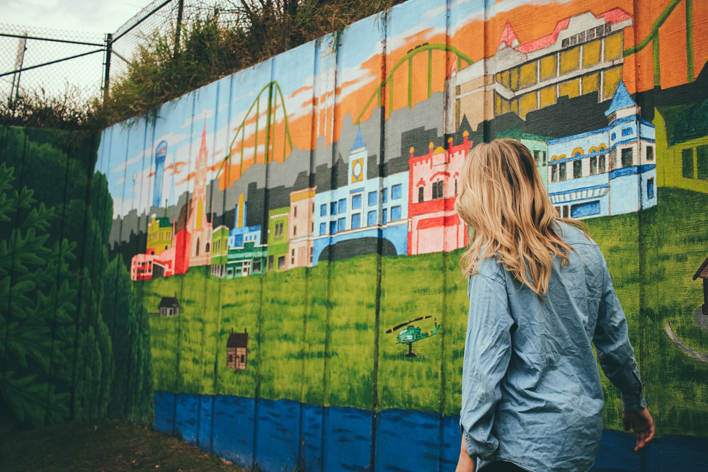 The community mural