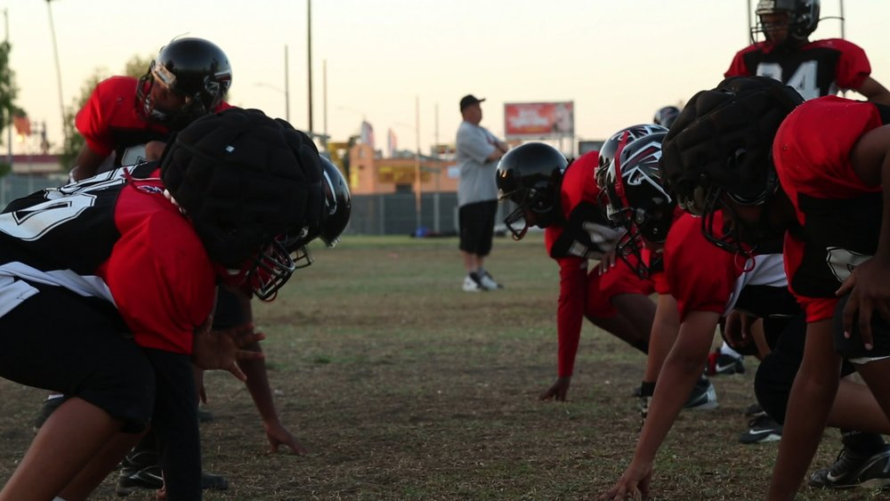 Southern California Falcons Youth Football Program practice