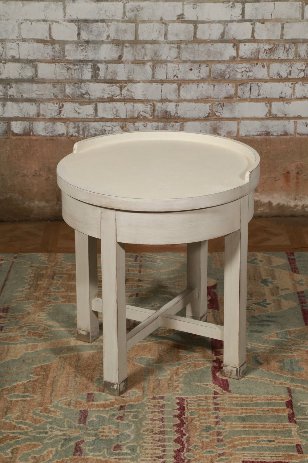 Round Side Table - White - $89