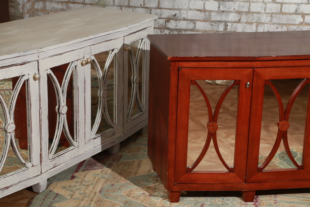 Mirrored Buffet - White/Unpainted - $189