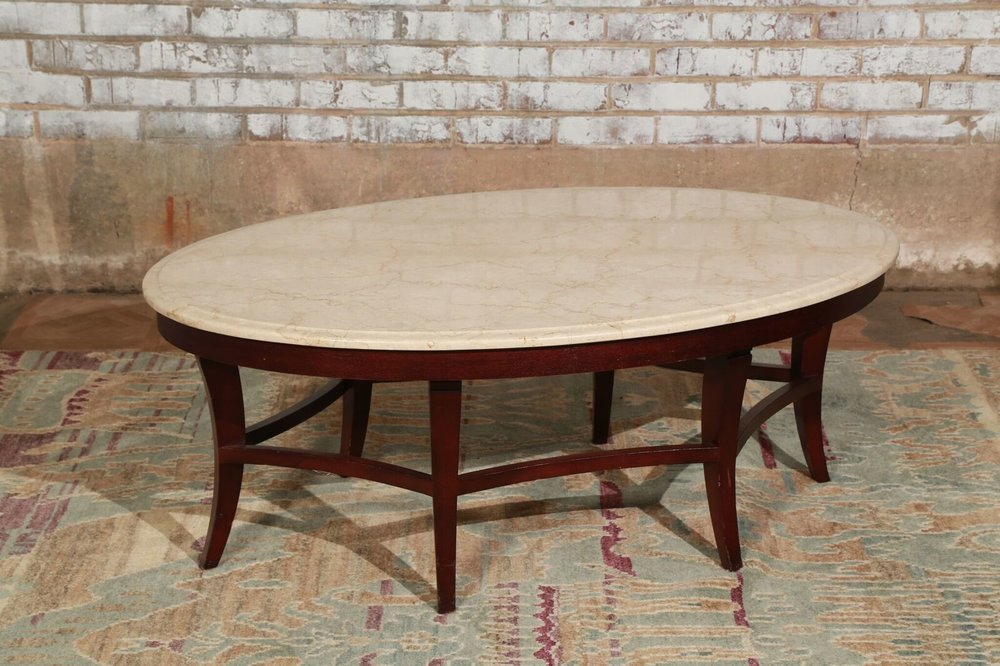 Large Oval Coffee Table $129