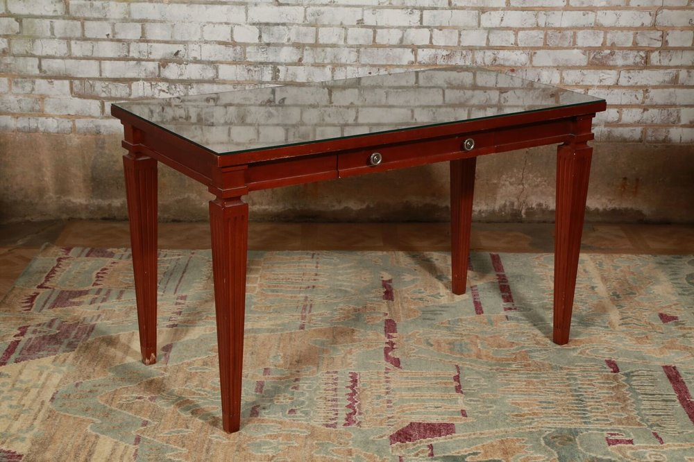 Glass Top Desk $109