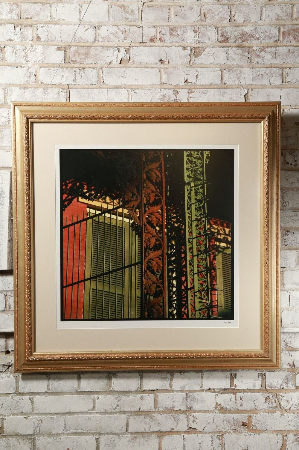 "Signed Louis Sahuc ""Iron Fence"" $99"