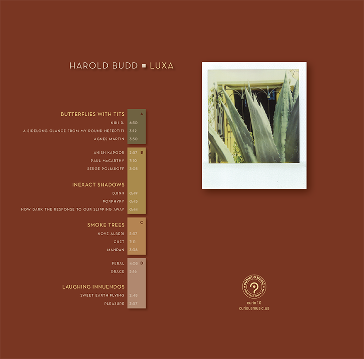 Back Cover of vinyl edition of  Luxa . Design by Russ Curry and Paula Ashley.