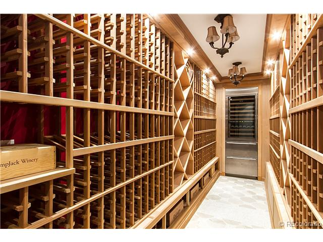 Custom Home Wine Room - Castle Pines, CO