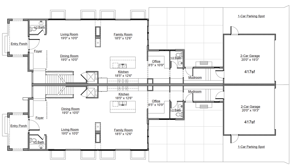 226 / 228 Basement Floorplan