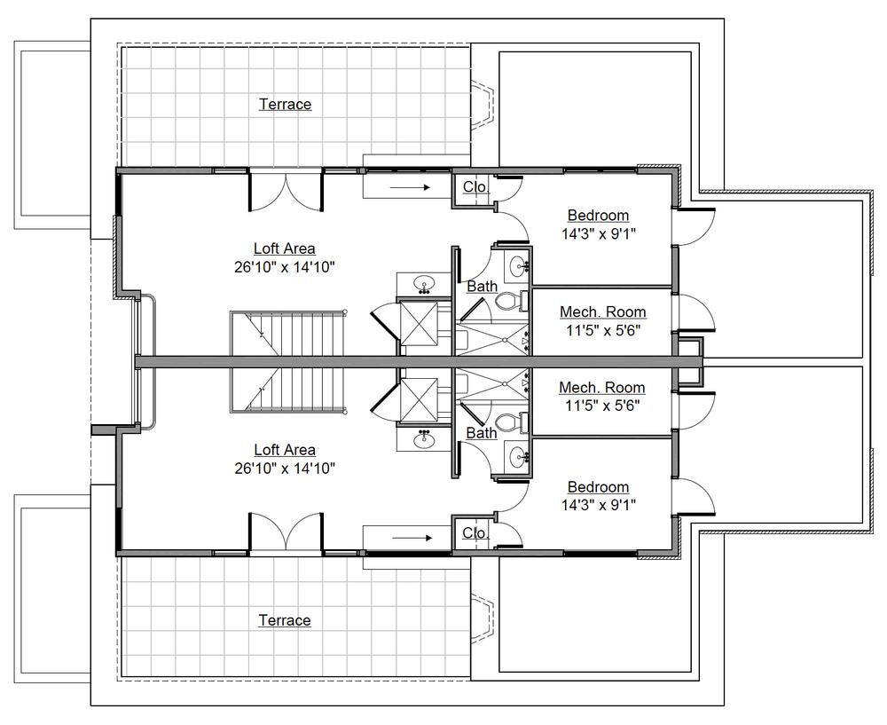 226 Monroe St./ 228 Monroe St.Loft Floor Plan