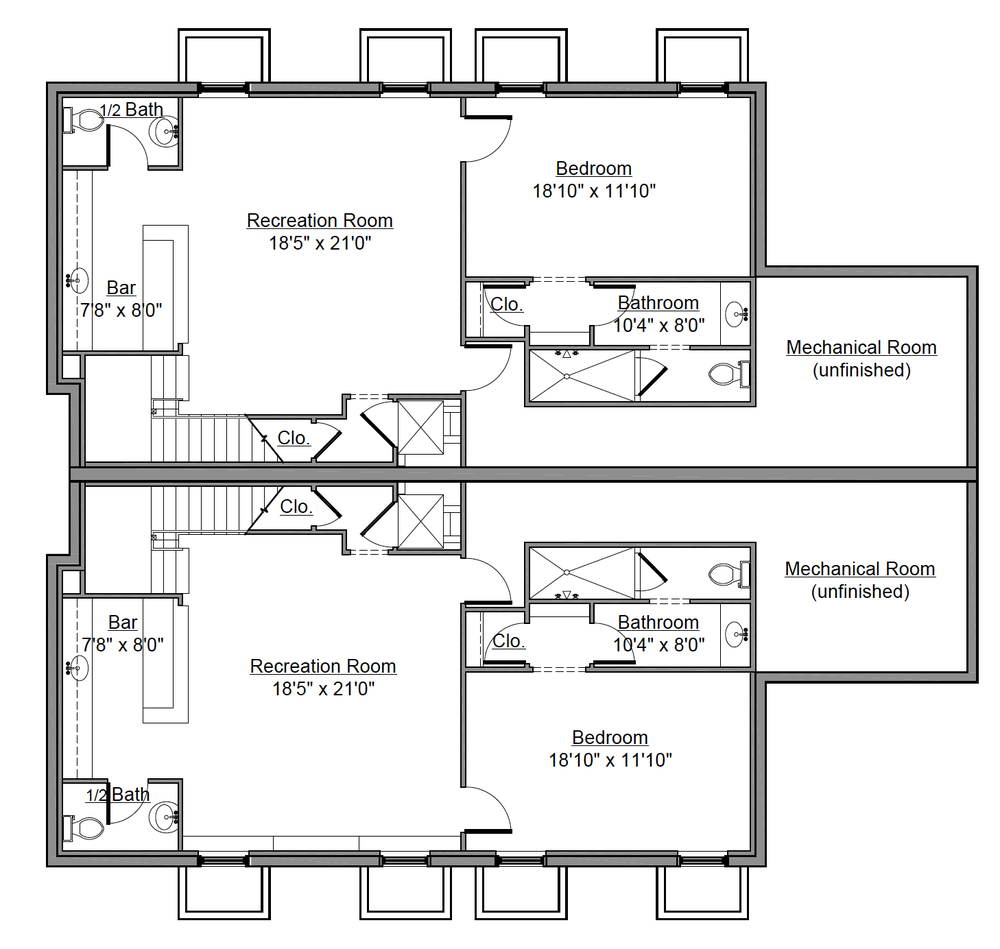 232 Monroe St. Basement Floor Plan