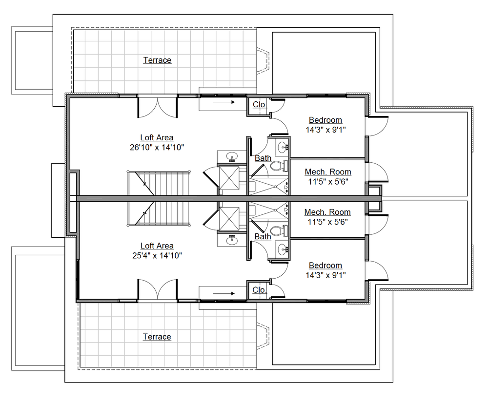 Rooftop Loft Floor Plan for 232 Monroe St. Denver, CO