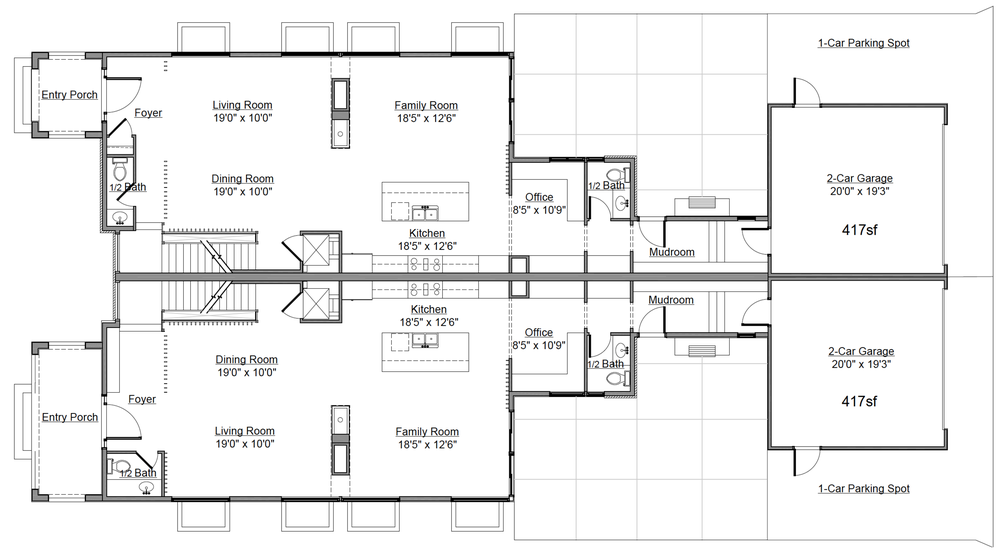 Main Level Floor Plan for 232 Monroe St. Denver, CO