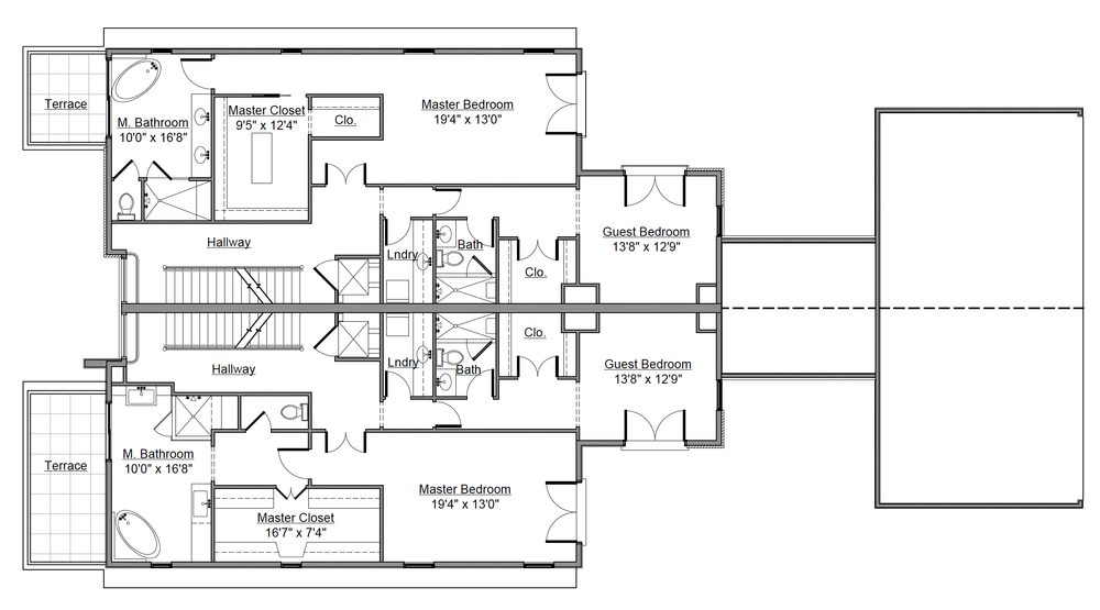Second Level Floor Plan for 232 Monroe St. Denver, CO
