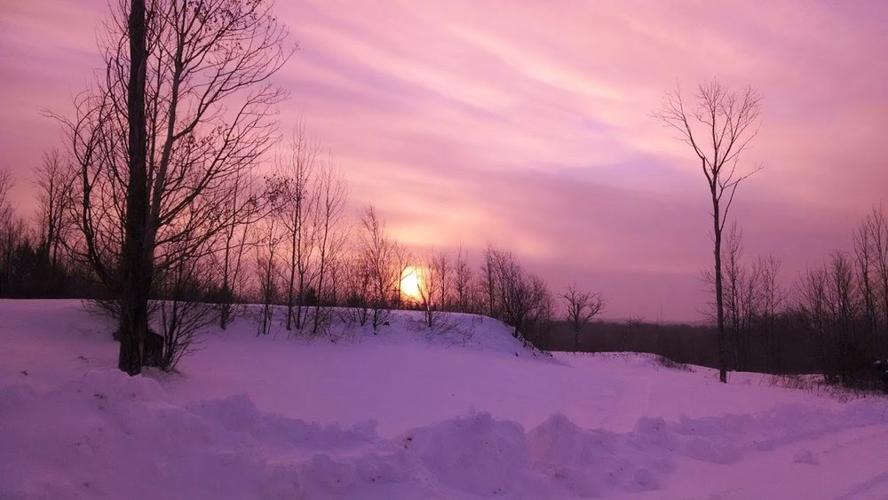 Winter Sunrise at Highbridge — a fitting symbol for new directions!