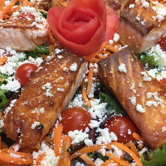 Salmon Salad platter