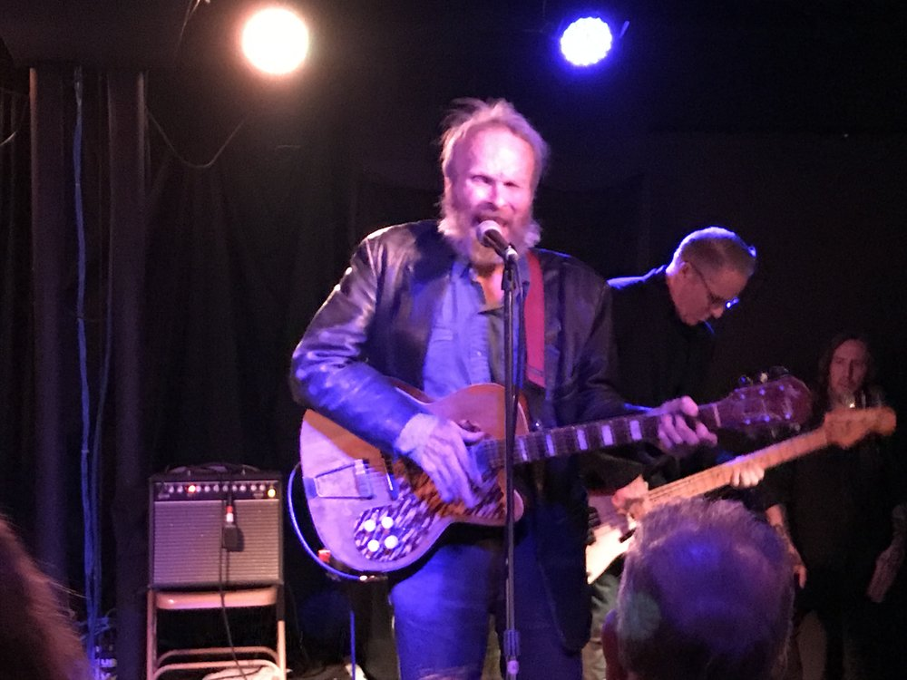 Lead singer Phil Alvin and bassist John Bazz of The Blasters
