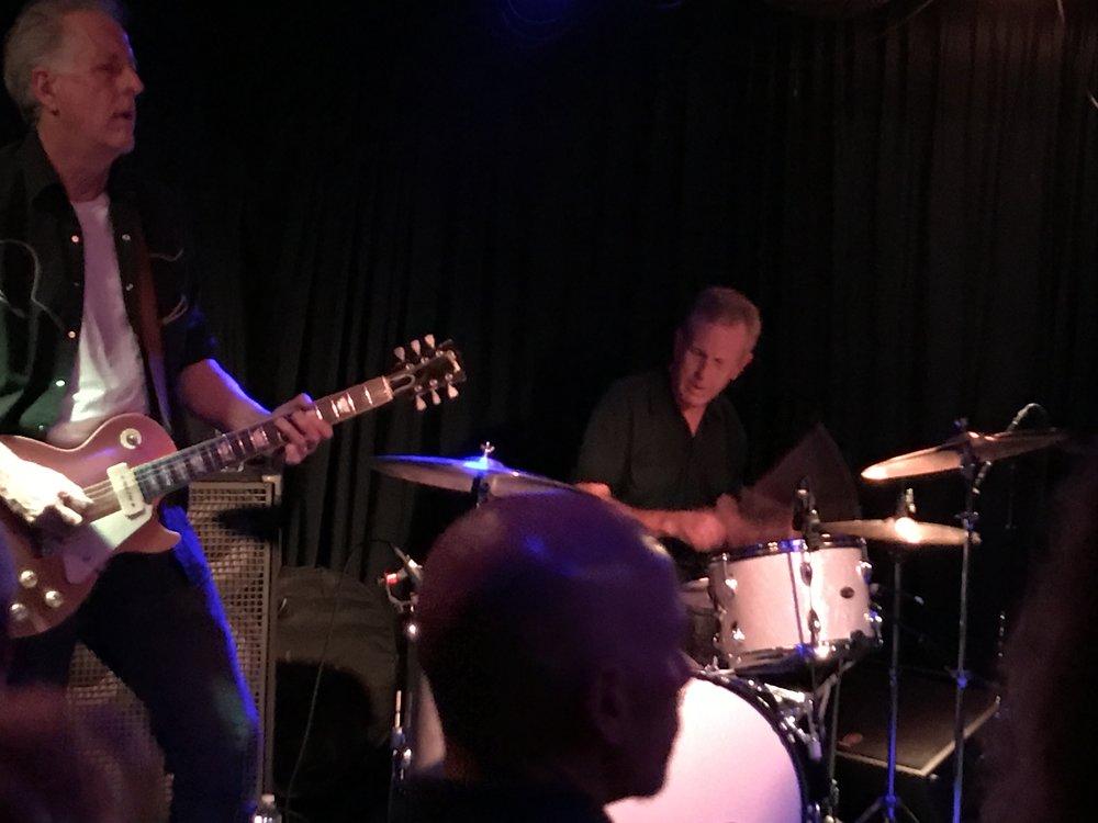 Lead guitarist Keith Wyatt and drummer Bill Bateman of The Blasters
