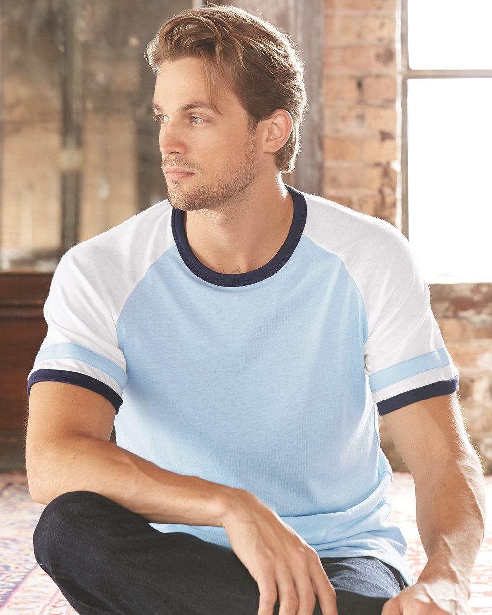 Alternative - Vintage 50/50 Jersey Slapshot Tee blue dot apparel