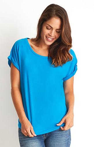 Next Level - Women's Roll Sleeve Dolman  blue dot apparel