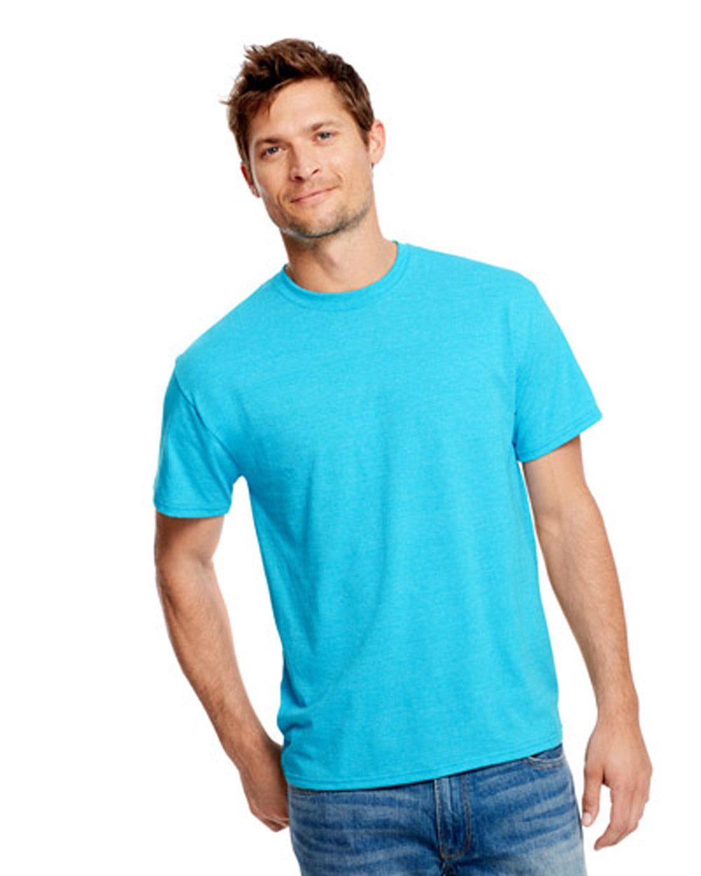 Hanes - X-Temp Triblend Tee with Fresh IQ blue dot apparel