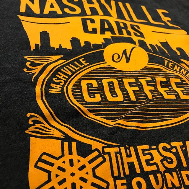 When you love how custom artwork turns out #custom #screnprinting #bluedotapparel #screenprintinglife #customshirts #nashvillecarsncoffee #nashville #customartwork #customtees #nextlevelapparel