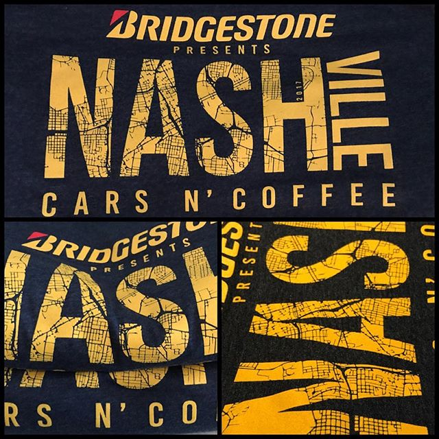 New merch for NCC, check them out #nashvillecarsncoffee #custom #screnprinting #bluedotapparel #screenprintinglife #customshirts #customartwork