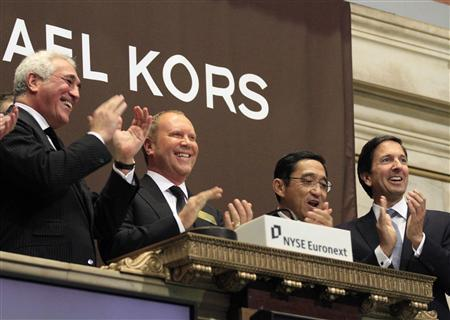 Ryzenberg On: Mr. Kors Goes to Wall Street New York's Stock Exchange just got a little glitzier. Legendary American brand Michael Kors occupied the NYSE trading floor Thursday morning and made a strong ca-ching sound — of $20 a share. The company's initial public offering raised $944 million in Hong Kong on Wednesday, valuing the company at $3.8B, according to the Financial Times. In fact, the opening surpassed analysts expectations and even closed the day at $24.20, which values the company at $4.62B. Kors (NYSE: KORS.N) had the biggest opening public offering in the history of US fashion; it even beat Ralph Lauren's astounding initial IPO of $882M in 1997. The newlywed, Project Runway judge and designer is selling 5.6 million shares and will pocket a mere $116M. Now that's some serious shekels! So here is the deal. This is absolutely a sign that the economy is slowly rebounding. Traders and analysts see the brand's potential and the strong company as a reliable and  good buy. This shows how despite the current crisis, luxury brands, although not fully unaffected, are seeing signs of improvement. This year alone, Prada filed for an IPO in Hong Kong for $2.1B back in March and Salvatore Ferragamo also entered the trading circuit.  Currently, there are 169 Michael Kors retail stores in the US and 34 in Europe and Asia. They all showcase apparel, jewelry, accessories, footwear and watches. The company hopes to double its stores worldwide.  Now I guess 2011 is the year of Michael Kors! Mazal Tov and looking forward to celebrating and documenting more milestones. This leaves me wondering, who will be the next to jump on the bull? DVF perhaps. Ryzenberg On, is Signing Off PHOTO: Reuters