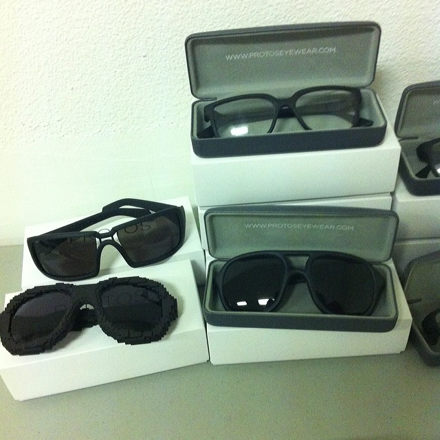 @fashiontechweek #protos 3D printed eyewear @fashiontechweek #ftw14 #weartechcon