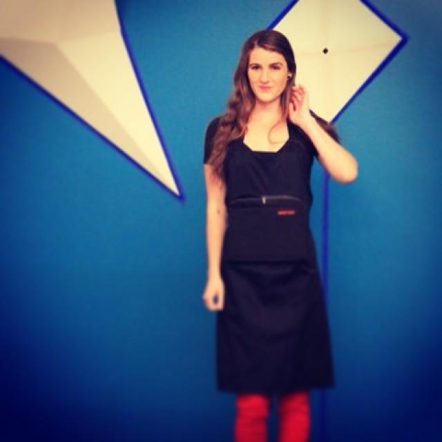 @owengeronimo Karla wearing Alphyn Industries #WearTechCon launch