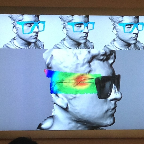 @geeknchic 3D Scan of your face. This software determines what frames would be the best fit for your face. #weartechcon @sffama fashion.technology.design