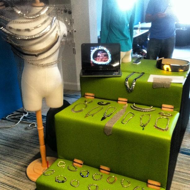 @metalweavedesigns Table setup at #weartechcon #display #con #convention #designer