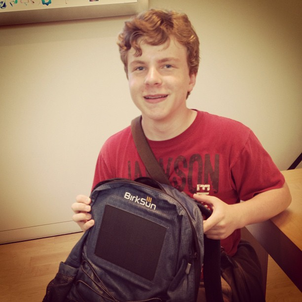 @  coachmchugh   @tommytech viewing ultimate hitech backpack at Apple Store #WearTechCon #sffama #sfdw