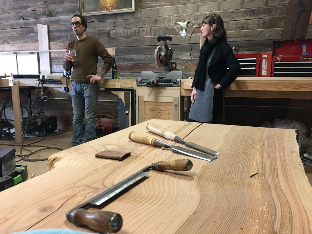 Visiting Cody in his shop is a true pleasure and we always delight in seeing previews of his projects.