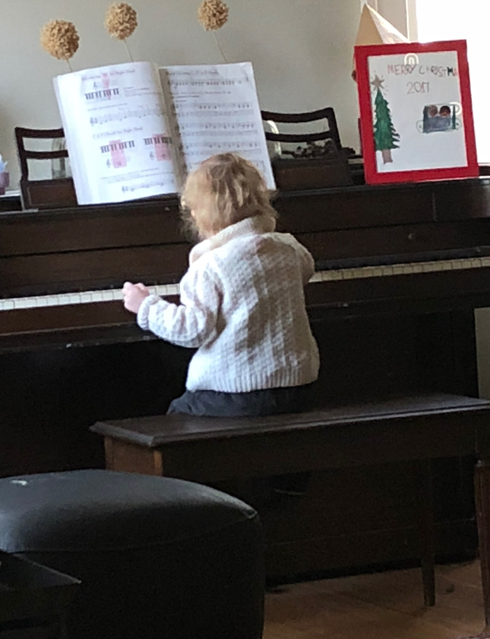 Watching this little one play the piano has also been a perfect way to start the New Year.